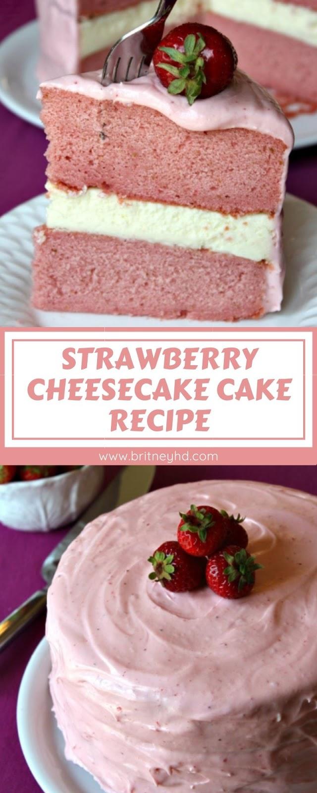 STRAWBERRY CHEESECAKE CAKE RECIPE