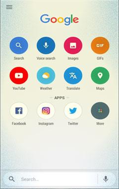 Tampilan Aplikasi Google Go
