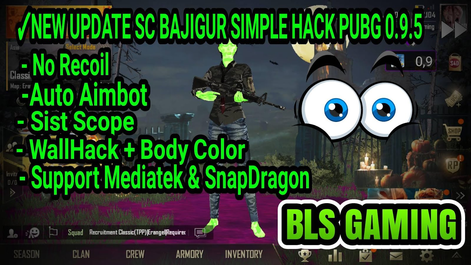 Cara Hack Cheat Pubg Mobile  Vip Script Bajigur Auto Chicken Dinner