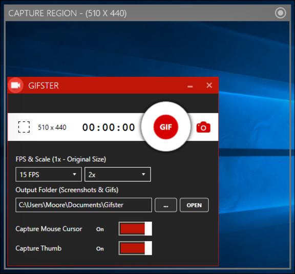 تسجيل  مقاطع الفيديو والالعاب وغيرها وحفظها كصورة متحركة GIF