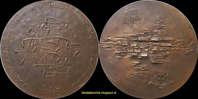 Medalla Electrificación Ferrocarril Paris - Marsella