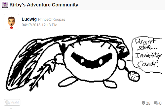 Meta Knight Miiverse drawing