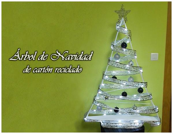 diy navidad rbol de navidad de cartn reciclado 2 - Arbol De Navidad De Carton
