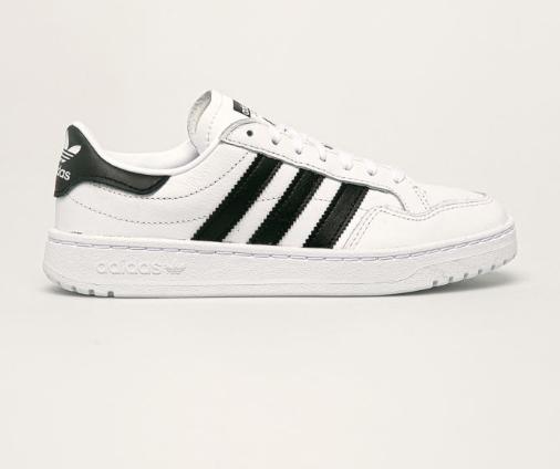 Adidasi femei albi originali adidas Originals - Pantofi Team Court Ftwwht