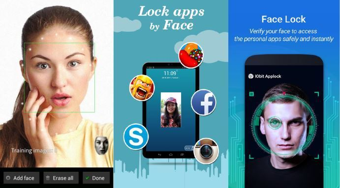 Free android apps to unlock screen and apps with face recognition