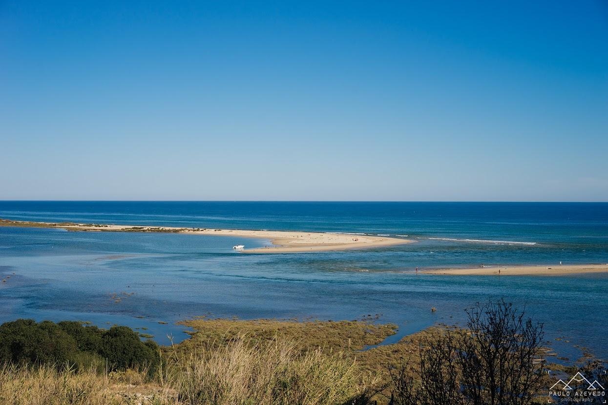 Praia da Fábrica vista de Cacela Velha