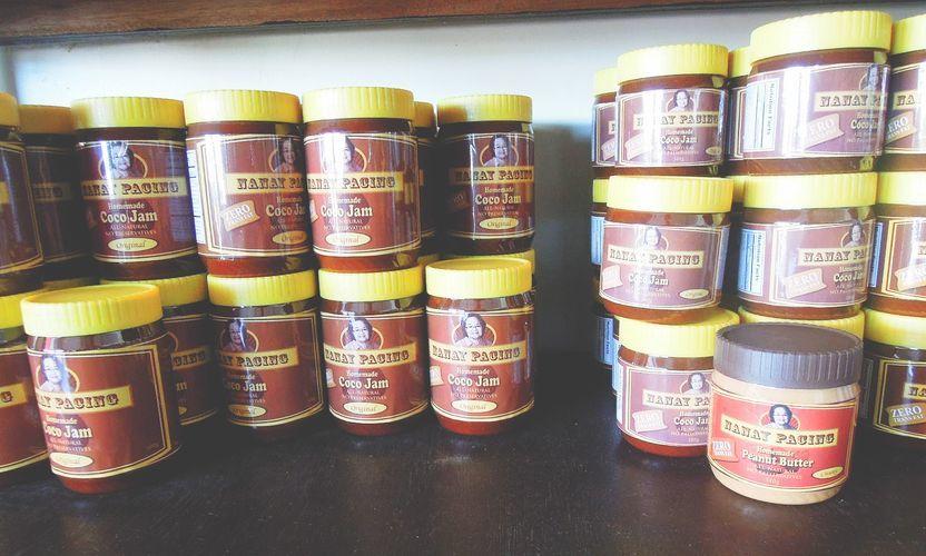 Pasalubong coco jam from Nanay Pacing store in Baler