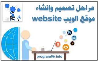 مراحل تصميم وانشاء موقع الويب website