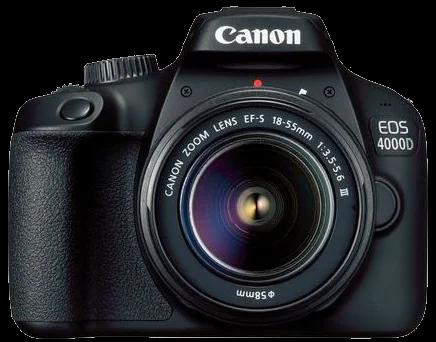 Canon EOS 4000D SLR Camera EF-S 18-55mm III Lens - Black
