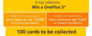 Amazon Train Of Cards Quiz - Find Cards and Win One Plus 5 all products tricksstore app only quiz
