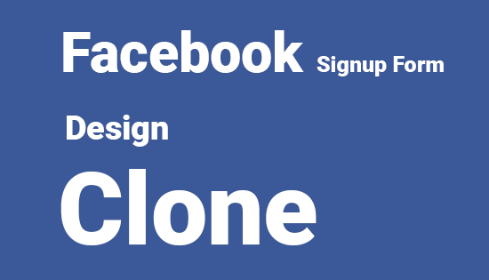 Facebook Signup design clone