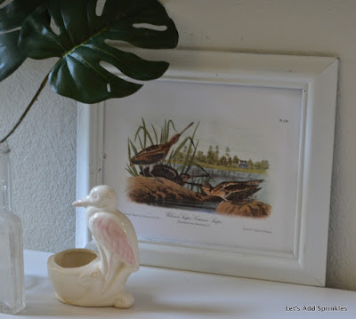 Stork Nursery Planter, Audubon Print, South, Shore Bird, South Carolina