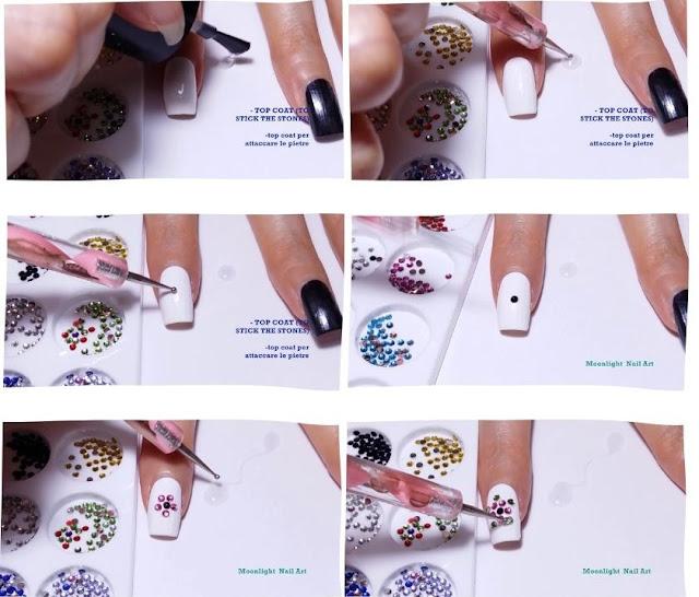 Easy Crystal Nail Art Design Tutorial