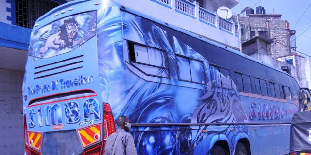 Photo of the man dies inside the Simba Coach bus