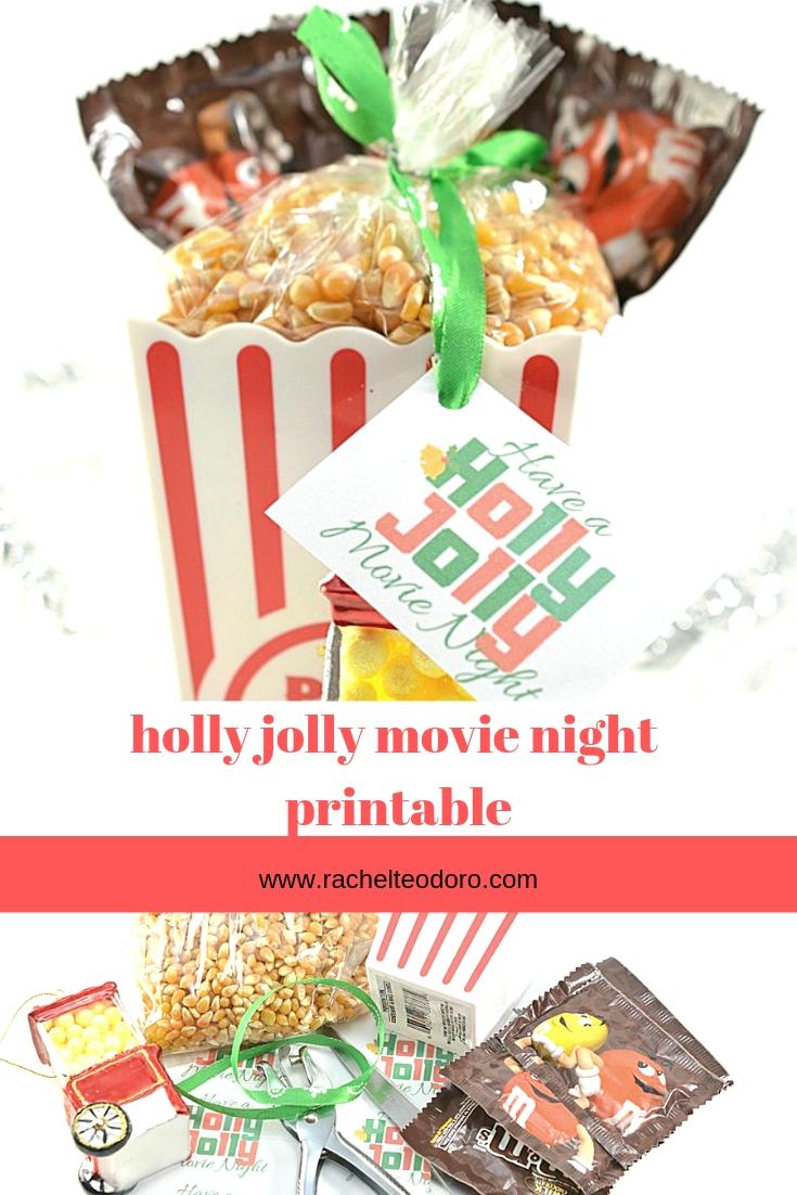 popcorn gift tag printable