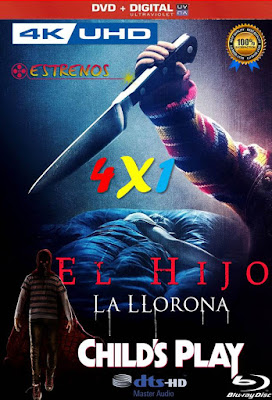 Estrenos Vol 03 4X1 COMBO DVD HD LATINO