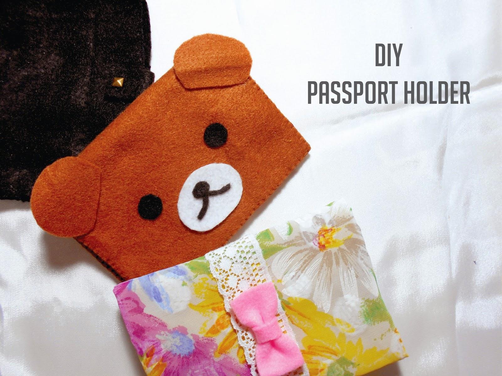 DIY Cute Passport Holder or Wallet From Felt (Easy)