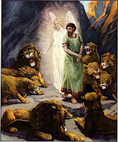 1. Angel Stops the Mouths of the Lions for Daniel