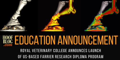 Royal Veterinary College farrier research diploma program in USA
