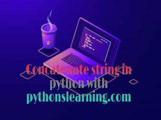 concatenate string in python