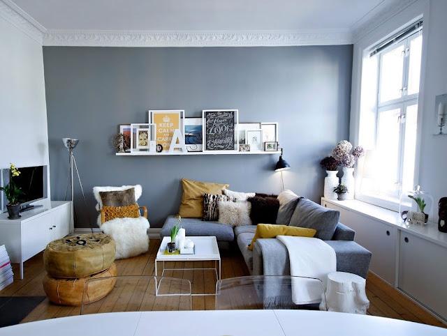 Hiasan minimalis di ruang tamu