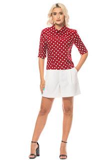 Minimalis - Дамска Блуза с десен на точки