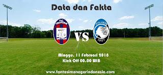 Data dan Fakta Liga Fantasia Serie A Gio 24 Crotone vs Atalanta Fantasi Manager Indonesia