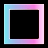 Moldura quadrada azul rosa - criação Blog PNG-Free
