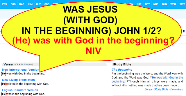 WAS JESUS WITH GOD IN THE BEGINNING. JOHN 1:2.