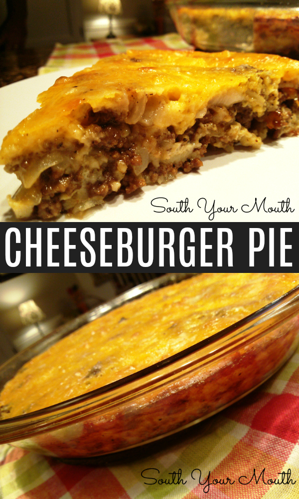 Ground beef, onions and cheese make a quick dinner with this Cheeseburger Pie recipe.