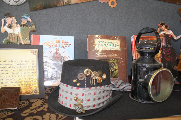 Library Displays Steampunk