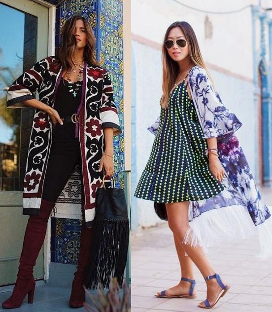 10 looks inspiração como usar kimono, Rocky Barnes, Aimee Song