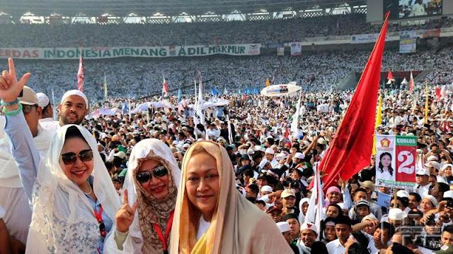 Pesona Tiga Putri Soeharto di Kampanye Akbar Prabowo-Sandi