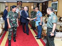 Panglima TNI Terima Kunjungan Kehormatan Dubes AS