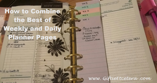 Combining Daily Planner Pages with a Weekly Plan