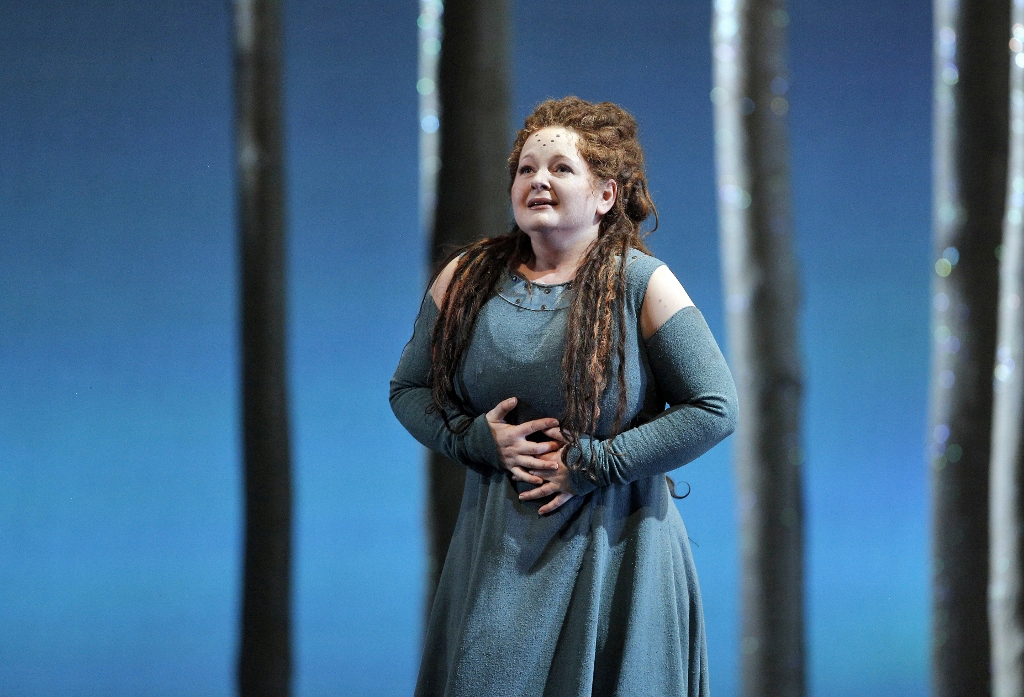 SINGER SPOTLIGHT: Mezzo-soprano ELIZABETH DESHONG as Adalgisa in Lyric Opera of Chicago's 2017 production of Vincenzo Bellini's NORMA [Photo by Cory Weaver, © by Lyric Opera of Chicago]