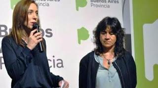 La ministra de Salud Zulma Ortíz junto a la gobernadora María Eugenia Vidal