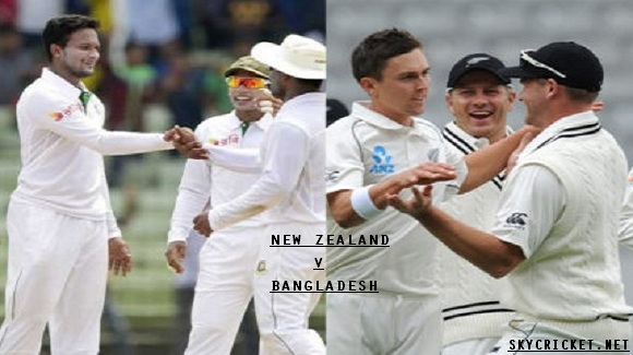 Live Bangladesh v New Zealand Test Series 2017