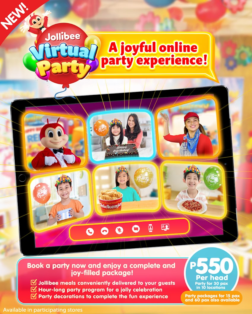 Jollibee Virtual Party , A New Way to Experience Celebration