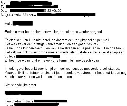 afschrijving sollicitatie Veel succes bij het vinden van een passende baan!: 2012 afschrijving sollicitatie
