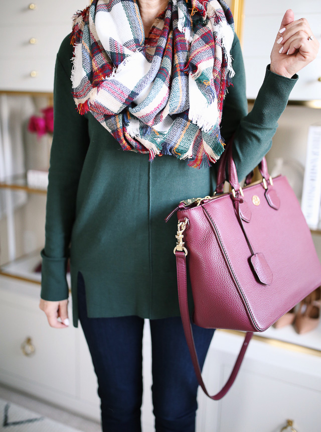 How to wear a blanket scarf in the fall