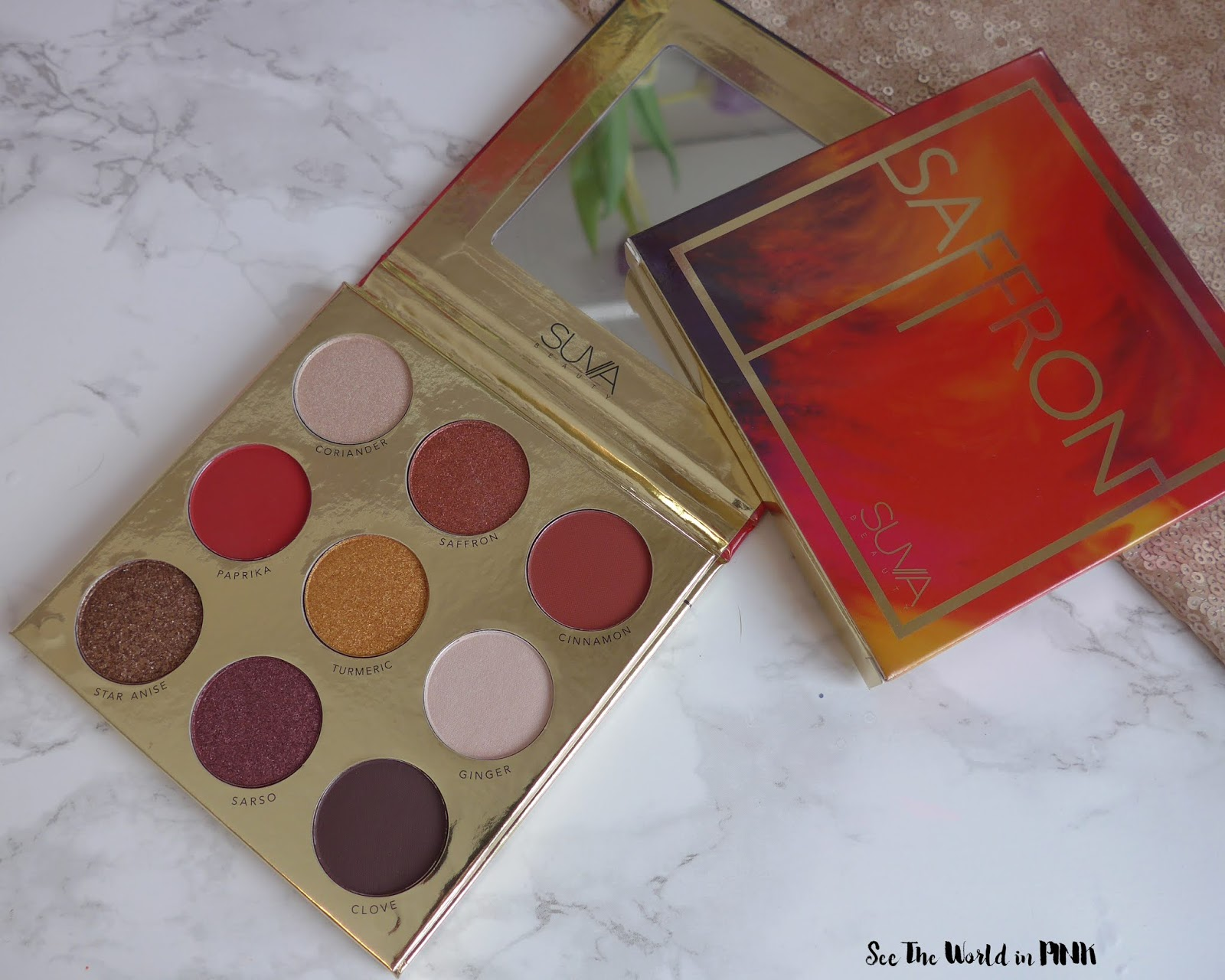 Suva Beauty Saffron Eyeshadow Palette