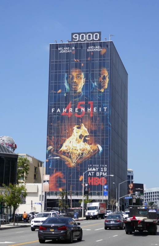 Giant Fahrenheit 451 HBO movie billboard