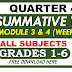 SECOND Summative Test GRADE 1-6 Q4