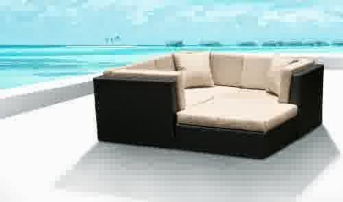 Outdoor Patio Wicker Furniture Sofa Sectional 4pc Resin Couch Set