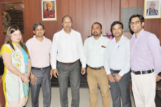 Vice Chancellor of YMCA University, Dinesh Kumar meets with Faculty Association