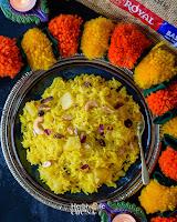 Pineapple Zarda Sweet Rice/ Meethe Chawal
