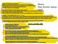 Terjemahan Mantra Raja KERATON AGUNG SEJAGAT
