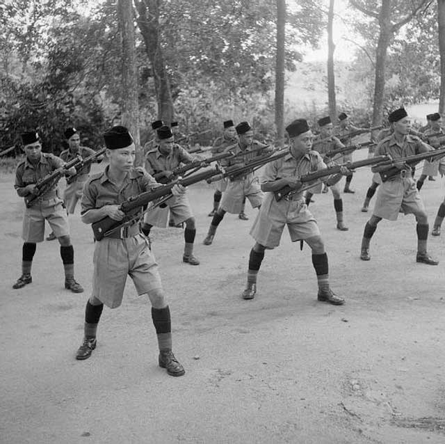 Malay Regiment practicing in October 1941 worldwartwo.filminspector.com