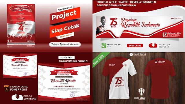 Kumpulan Desain 17 Agutusan Download Poster Kaos Dan Banner 17 Agustus 2020 Lengkap Templatekita Com